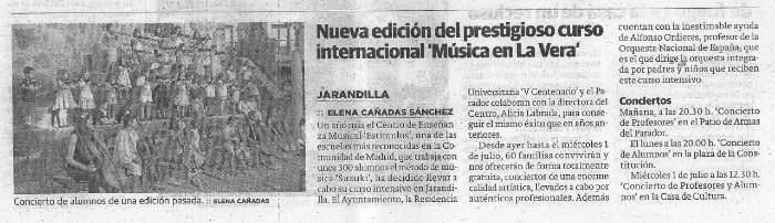 Curso Internacional de Musica en La Vera
