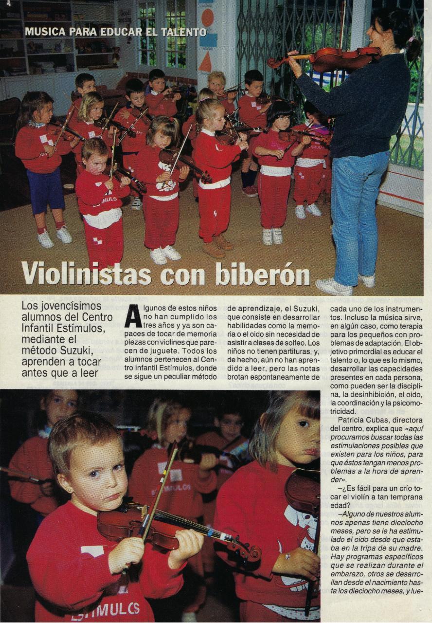 violinistas con biberon